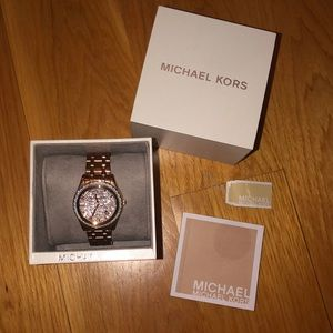 MK rose-gold watch